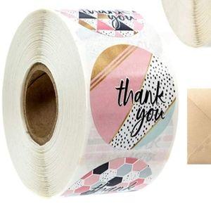 Thank You Stickers geometric multi patterns